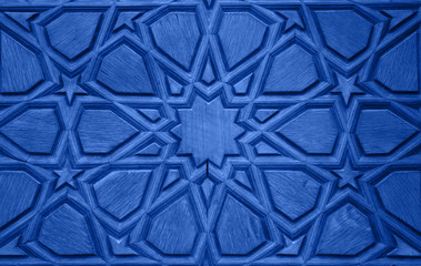 Old Wooden Door Detail - Blue version