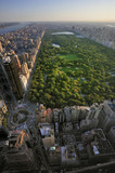 Aerial view of Central Park and Columbus Circle, Manhattan, New - Fine Art prints