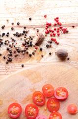 cherry yomatos with spices