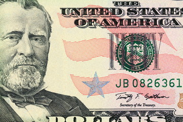 Portrait of Ulysses S. Grant as depicted on the bill