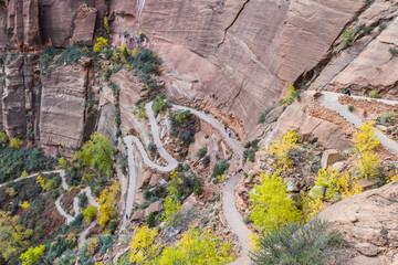 switchback hiking trail