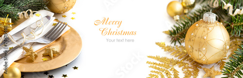 Golden Christmas decor - 74615440