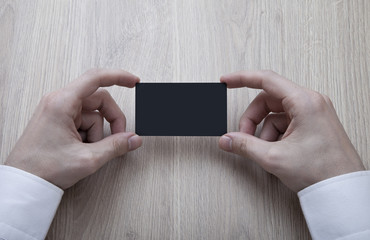 Blank Black Business Card