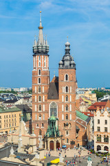 St. Mary's Church in a historical part of Krakow