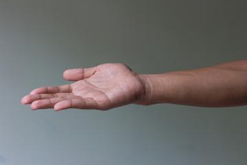 Open man hand