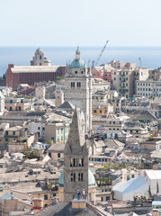 Detail of city of Genoa in Italy