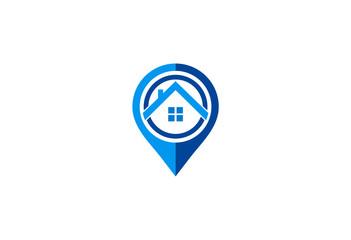 home navigation position vector logo