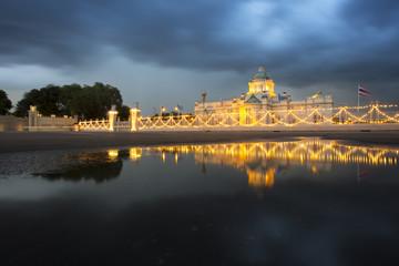 Ananda Samakhom Throne Hall At Overcast Day