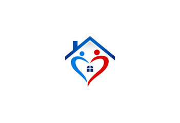 home-of-love-abstract-logo