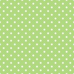 Vector Background # Polka Dot Pattern, Grass Green