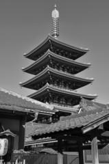 Sensoji Buddhist Temple in Asakusa, Tokyo, Japan