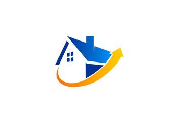 house home security vector logo