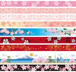 桜 飾り罫