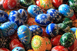 canvas print picture - easter eggs background