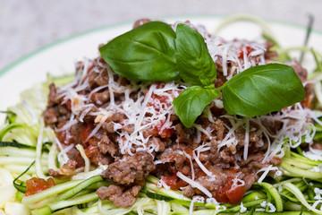 zucchini pasta dish
