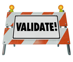Validate Word Barricade Verify Truth Status Certify Results