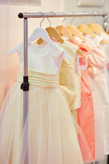 Collection of dresses for little bridesmaids
