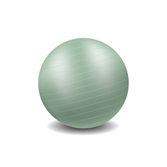 Gym ball in light green design