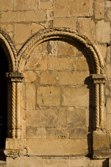 architectural details of ancient cathedral