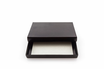Black paper box.