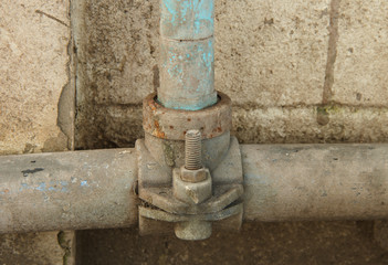 old and rusty water pipe