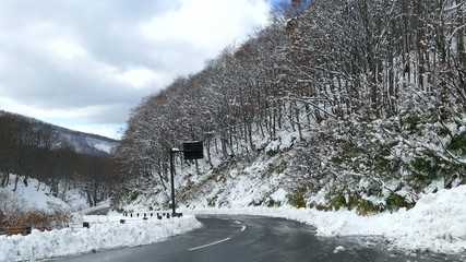 Hakkoda Mountains is a volcanic mountain