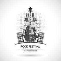 Rock Festival Stamp