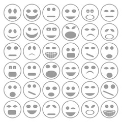 set of  smiley faces icons