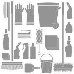 Cleaning Tools silhouettes