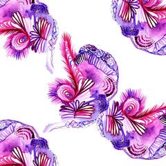 Watercolor design. Floral card