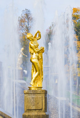 The Grand Cascade in Peterhof near St.-Petersburg, Russia