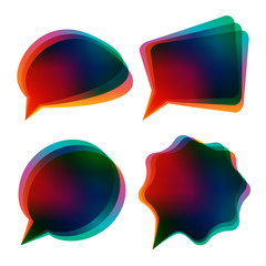 bubbles_colorful_dark_vector_design_elements