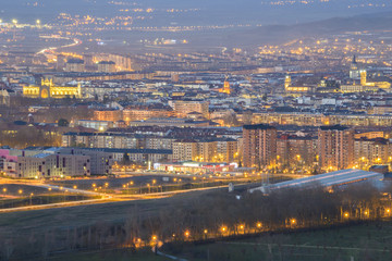 View of Vitoria at dusk, Basque Country (Spain)
