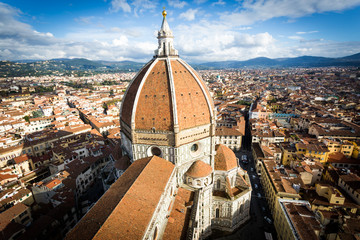 Florence, Aerial view of the city from Giotto's Tower