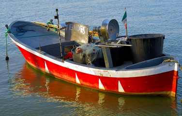 fishing boat for sale in the port, Puglia - Italy