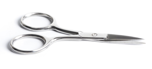 nail scissors (Manicure measures) isolated