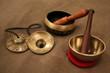 Tingsha and singing bowl - 74624401