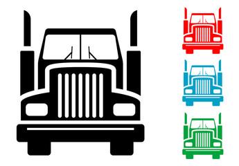 Pictograma camion frontal con varios colores