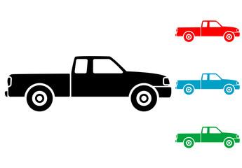 Pictograma pickup con varios colores