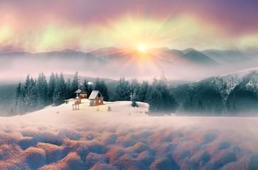 Lone Alpine monastery