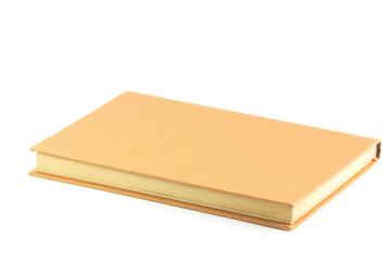 Un libro su sfondo bianco