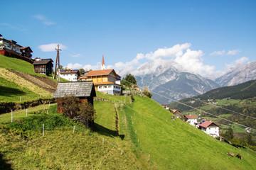 Niedergallmigg, mountain village in Tyrol