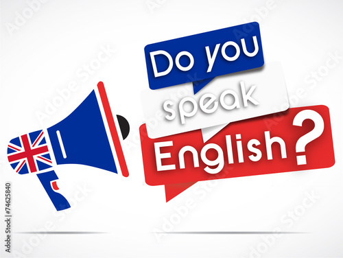 megaphone : do you speak english - 74625840