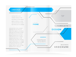 brochure design booklet template vector geometric abstract lines