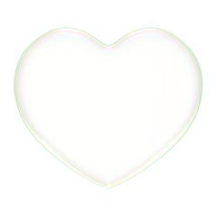 3D soap bubble Heart Shape on a white background