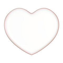 3D soap bubble Heart Shape on a white background