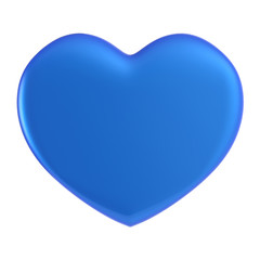 3D blue Heart Shape on a white background