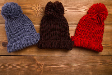 Winter hats with tassel