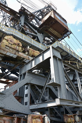 Detail eines Baggers im Tagebau Ferropolis