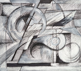 an abstract drawing
